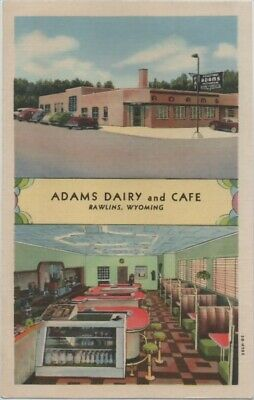 1943 Rawlins Wyoming Adams Dairy & Cafe on US Highway 30 (Lincoln Highway)