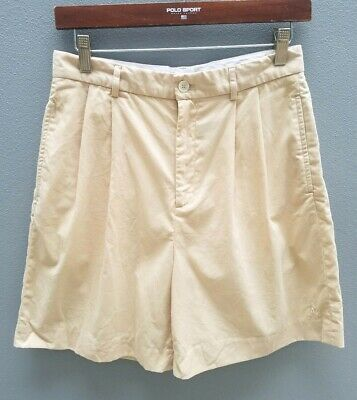 VINTAGE RALPH LAUREN High-Waisted Womens Shorts Sz Aust10/US6 Nude Cotton Golf