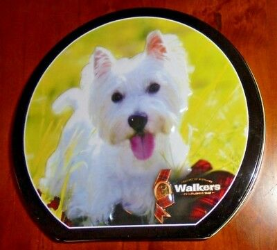 Walkers Collectable Shortbread Tin ~ Embossed Scottish Terrier dog on lid ~ 2012