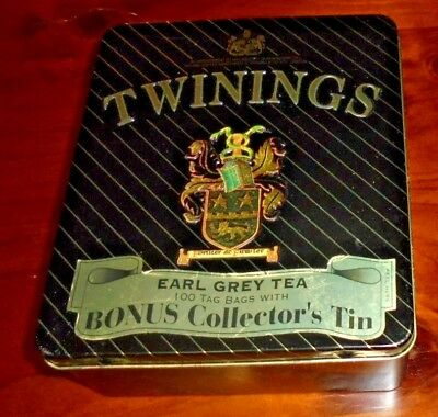 Twinings collectable Earl Grey Tea bag tin from 2001!