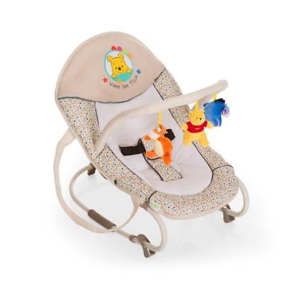 WINNIE Transat Multiposition Bungee Deluxe+ barre de jeux Disney Baby