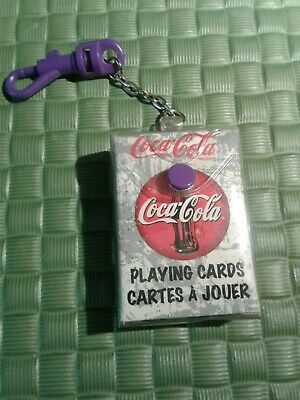 Coca-Cola Mini Playing Cards On Keychain Collectable