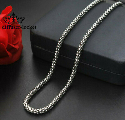 316L Stainless Steel Chain Silver Corn Necklace Chain Women/Men Fashion gift
