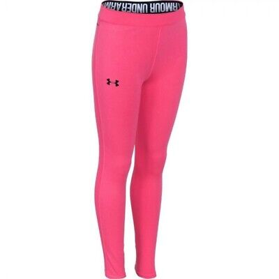 Under Armour Girls' UA Favorite Girls Leggings Pink - Youth Medium