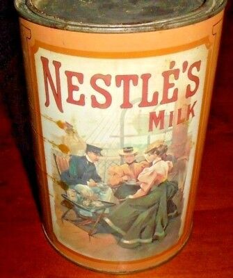 Old Collectable Nestle's Milk tin from 1985 ~ High Tea pictured