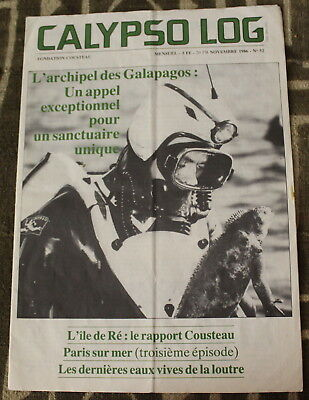CALYPSO LOG ✤ N°52 de 1986 ✤ Fondation Cousteau