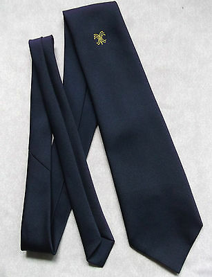 Vintage TOOTAL Tie Mens Necktie Retro 1980s Fashion NAVY BLUE