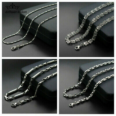 Fashion Men/Women 316L Stainless Steel Silver Multi-style Chain Necklace gift
