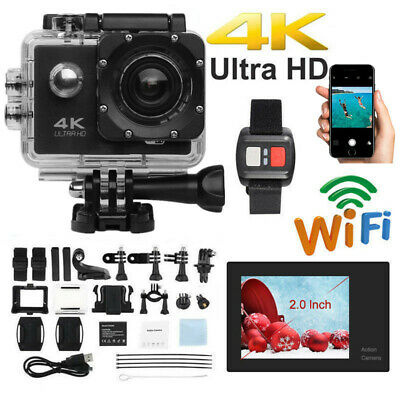4K Ultra HD Sports Camera Action Camcorder Video Recorder Waterproof 30M Wifi