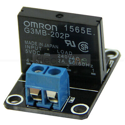 5V 1 Channel OMRON G3MB-202P SSR Solid State Relay with Resistive Fuse Module