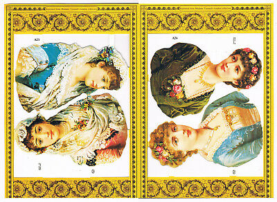 Mamelok Golden Victorian Scraps, A25 / A26, Ladies - (NB Paired Sheets Trimmed).
