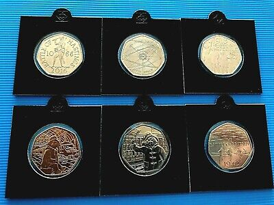 Various 50p Coins - Flopsy, Sir Issac, Puddle-Duck and Other Commemorative Coins