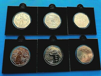 Various 50p Coins - UNCIRCULATED Fifty Pence Sir Isaac Newton And Others