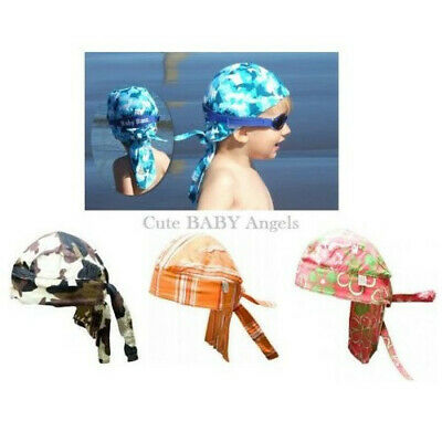 Baby Banz Bandana Sun Hat Head Cover Adjustable UVA & UVB Rays Protection Unisex