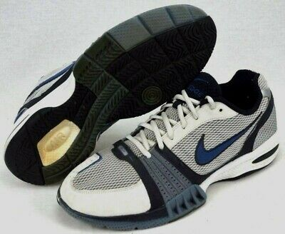 finest selection f91c8 009ef Nike Air Edge Dri Fit Men s Training Running Shoes Size 12 White   Blue