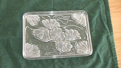 Marquise By Waterford Frosted Crystal Cut Glass Vanity Tray