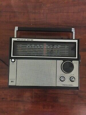 Vintage Radio Shack Realistic Patrolman SW-60 6 Band Radio Model No. 12-779