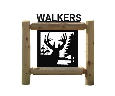 Whitetail Deer Sign - Archery -Clingermans Outdoor Signs - Rustic Log Decor