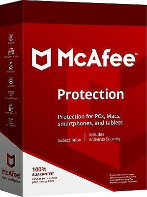 McAfee Protections 2019 Unlimited Devices (Account or Key) - New or Renewal