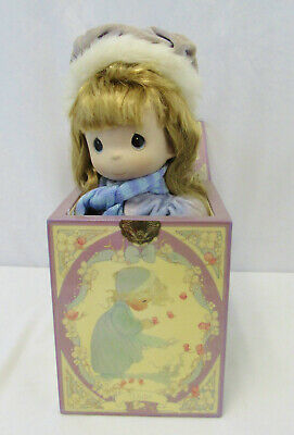 "Vintage Precious Moments ""Winter"" Limited Edition Musical Jack In The Box"