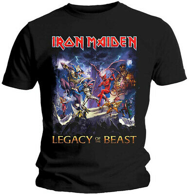 Iron Maiden 'Legacy Of The Beast' (Black) T-Shirt - NEW & OFFICIAL!