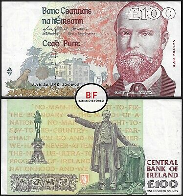 Ireland | 100 Pounds | Parnell | 1996 | P.79a | AAK 284595 | gVF/aEF
