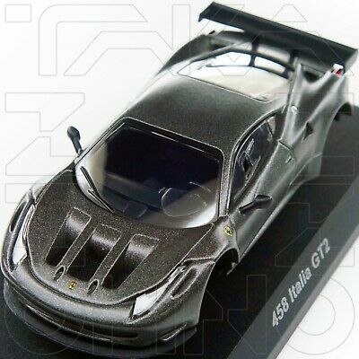 Ferrari 458 Italia Gt2  Minicar Collection 9 Neo Kyosho 1:64 Gray + Silver Rim