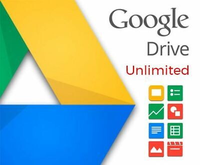 Google Drive Unlimited (Lifetime Account  - One time Payment)