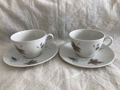 VGC 2 Royal Doulton Tumbling Leaves TC 1004 Cups and Saucers