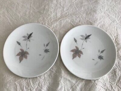VGC 2 Royal Doulton Tumbling Leaves TC 1004 Tea, Side, Bread and Butter Plates,