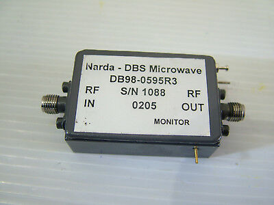 1 - 8GHz RF amplifier NARDA Gain: 22dB PO: 26dBm DB98-0595R3 SMA  Auction #3