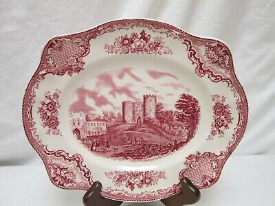 Vintage Johnson Bros. Made In England Old Britain Castles Pink Serving Plate
