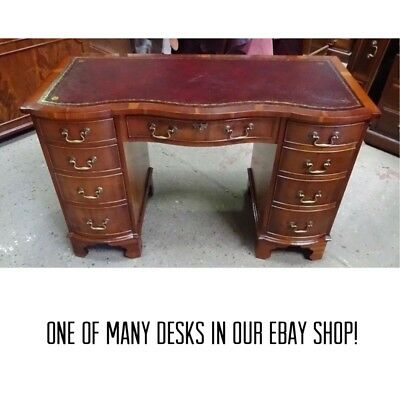 Antique Style Desk Stunningly Restored Yew Wood Bevan Funnell (Reprodux)