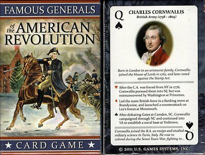 American History Playing Cards Bridge Size Deck USGS with 120 Page Bio Booklet
