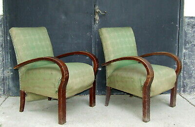 Art Deco Armchairs. Club Cocktail Chairs. For Restoration. 1920 Vintage Antique