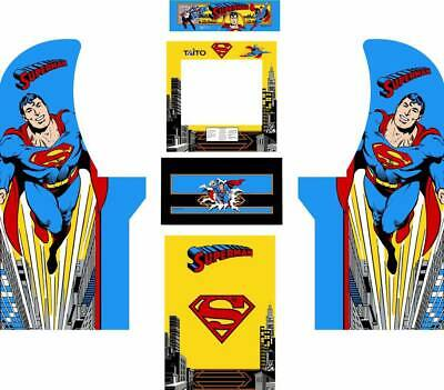 Arcade1up Arcade Cabinet Graphic Decal Complete Kits - SuperMan