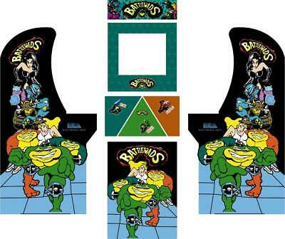 Arcade1up Arcade Cabinet Graphic Decal Complete Kits - BattleToads