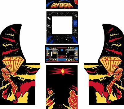 Arcade1up Arcade Cabinet Graphic Decal Complete Kits - Defender