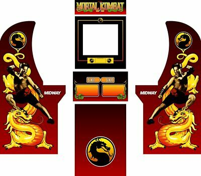 ARCADE1UP ARCADE CABINET Graphic Decal Complete Kits - Mortal Kombat