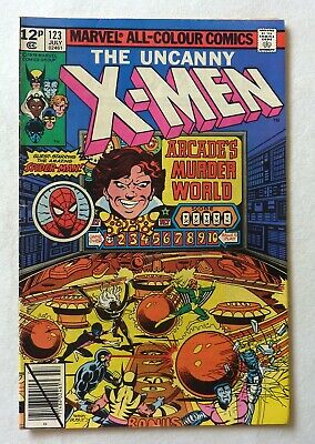 Uncanny X-Men 123 Bronze Age 1979 Marvel Comics VFN Arcade Spider-Man