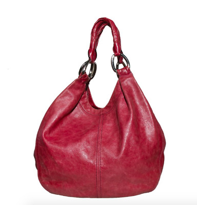 Miu Miu Prada Pink Leather Large Hobo Shoulder Bag