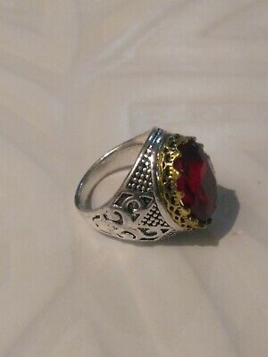 Extremely Antique Old Vintage Rare Ethnic Silver Crowned Handcraft Quality Ring