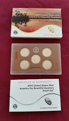 2014 US Clad Quarter Proof Set in Original Mint Packaging - FREE SHIPPING