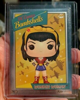 Funko Pop Wonder Woman Foil Chrome Chase Card Dc Bombshells Box Target Exclusive
