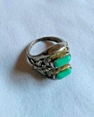 Extremely Antique Old Vintage Unique Rare Ethnic Silver Anti craft Quality Ring