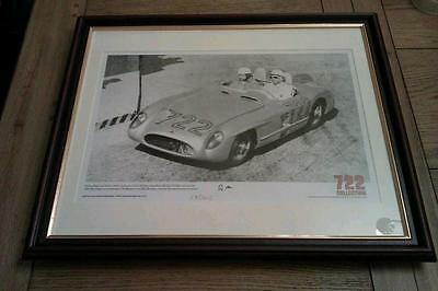 FRAMED Mounted Signed Limited Edition Lithographic Print Sir Stirling Moss + COA