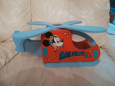 Mickey Mouse Wooden Helicopter Mail pilot bedroom light ceiling fitting fixture