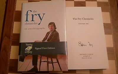 The Fry Chronicles A Memoir SIGNED Stephen Fry Autobiography HB Book 1st/1st
