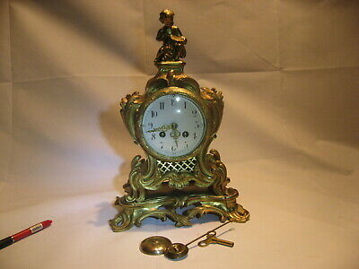 Antique French Ormolu Mantel Clock All Matching Numbers Superb Condition /4133