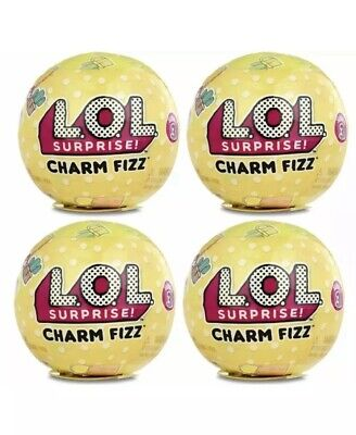 4 X LOL Surprise Charm Fizz Ball Bath Bomb Toy Series 3 Bundle New Sealed